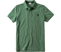 Polo-Shirt Polo Baumwoll-Piqué Mit Rücken-Print