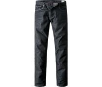 Blue-Jeans Regular Fit Baumwoll-Stretch meliert