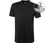 Herren T-Shirts Regular Fit Baumwolle schwarz