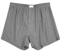 Herren Unterwäsche Boxer-Shorts Fil-à-Fil anthrazit grau