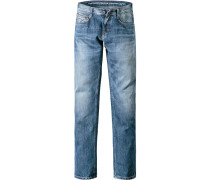 Jeans, Slim Fit, Baumwoll-Stretch, hellblau