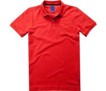 Herren Polo-Shirt Polo Modern Fit Baumwoll-Piqué rot