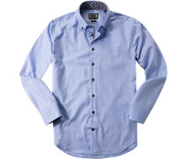 Herren Hemd Modern Fit Oxford hellblau meliert