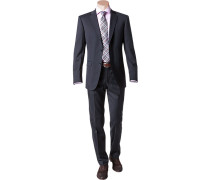 Herren Anzug Shape Fit Schurwolle Super120 Lanificio F.lli Cerruti marine blau