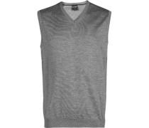 Pullover Pullunder Modern Fit Merinowolle silber