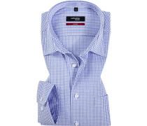 Herren Hemd Splendesto Baumwolle weiß-blau kariert
