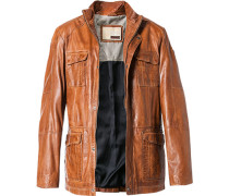 Lederjacke Regular Fit Lammnappa cognac