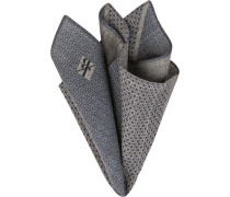 Accessoires Einstecktuch Wolle grau-blau gemustert