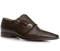 Schuhe Doppelmonkstraps Kalbleder dunkelbraun