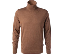 Pullover Wolle nougat meliert