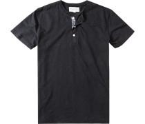 Herren T-Shirt Baumwolle schwarz meliert