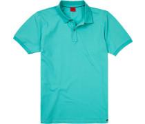 Polo-Shirt Polo Body Fit Baumwoll-Piqué türkis