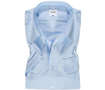 Hemd Comfort Fit Popeline bleu