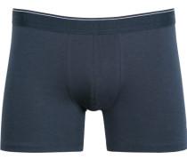 Herren Unterwäsche Trunk Baumwoll-Stretch navy blau