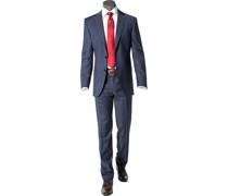 Anzug Modern Fit Schurwolle Super120 dunkelblau