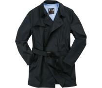 Mantel Baumwolle wasserabweisend nachtblau