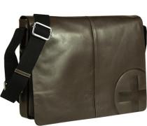 Tasche Messenger Bag Leder greige