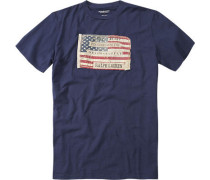 T-Shirt, Baumwolljersey, dunkelblau
