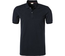 Polo-Shirt Polo Body Fit Baumwoll-Piqué marine