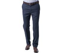 Hose, Modern Fit, Schurwolle Super110 REDA, dunkelblau
