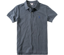 Polo-Shirt Polo Baumwoll-Piqué graublau
