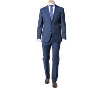 Herren Anzug Shape Fit Schurwolle Super100 blau