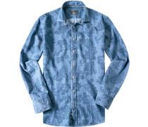 Hemd Modern Fit Baumwolle denimblau