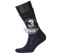 Herren Socken Socken Merinowolle dunkelblau