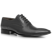 Schuhe Oxfords Leder dunkelgrau