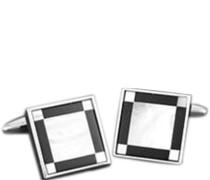 Schmuck Manschettenknöpfe Metall onyx-perlmutt