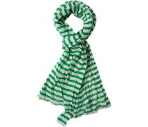 Herren  Schal Baumwolle grün gestreift