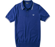 Pullover Polo Baumwoll-Strick royal
