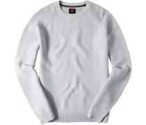 Pullover Baumwolle silbergrau