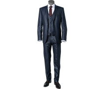 Anzug Slim Fit Schurwolle nachtblau