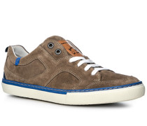 Schuhe Sneaker Kalbvelours Taupe