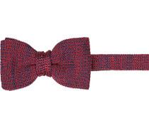 Krawatte Schleife, Seide, rot meliert