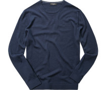 Pullover Wolle dunkelbau