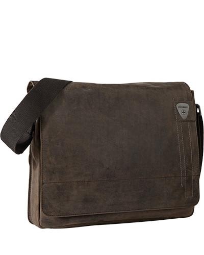 Strellson Herren Tasche Messenger-Bag, Rindleder