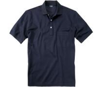 Polo-Shirt Polo, Baumwoll-Piqué, marine