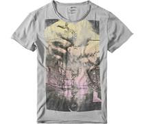 Herren T-Shirt Kloti Chain Baumwolle grau