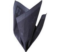 Accessoires Einstecktuch Baumwolle nachtblau gemustert