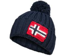 Mütze Wolle marineblau
