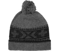 Herren  strellson Sportswear Mütze Woll-Mix grigio grau