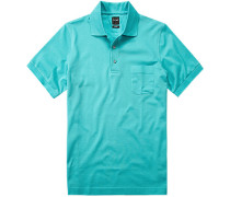 Polo-Shirt Polo Modern Fit Baumwoll-Piqué türkis