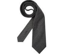 Herren Krawatte  grau,schwarz
