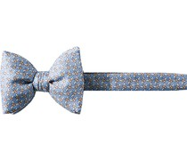 Krawatte Schleife Seide hellblau gemustert
