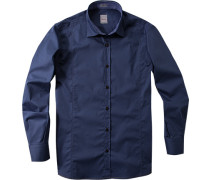 Hemd Regular Cut Baumwolle dunkelblau