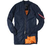 Herren Mantel Anorak Nylon petrol blau,orange