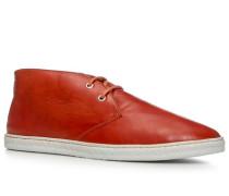Herren Schuhe Desert Boots Nappaleder orangerot