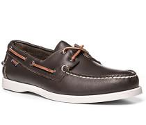 Bootsschuhe Leder dunkelbraun